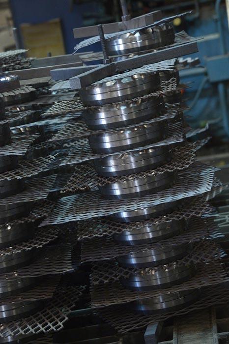 Racked parts in fixtures