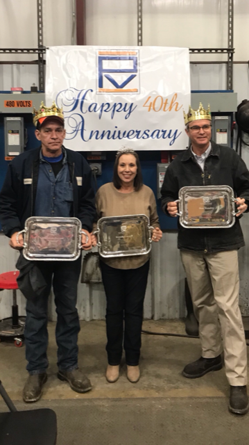 3 employees celebrate 40 years with Pinson Valley Heat Treating